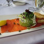 Smoked Salmon and Guacamole Appetizer
