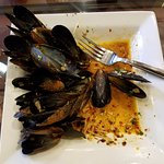 Mussels with Spicy Crushed Red Pepper and Old Bay Sauce