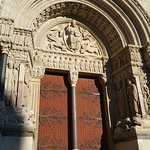 Closeup of Church doors