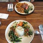 Veggies and rice (22,000IDR)