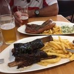 The best slow cooked beef ribs and pork belly we have ever had. Falls off the bone and melts in