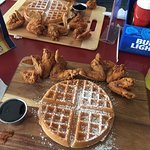 Chicken wings and waffles #cozzylove