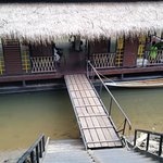 lots of stairs to climb to get on shore from dock - good thing luggage is brought to room
