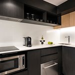 Full Size Kitchen with a Nespresso Coffee Machine in a Two Bedroom Apartment