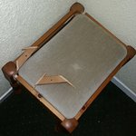 Broken stool with pieces all over never replaced