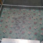 Floor covered in what looked like vomit of lift