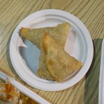 large chicken samosas
