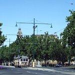 Tram in the city