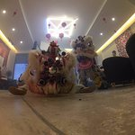 Lion Dance during CNY in the lobby