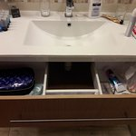 Loved this drawer instead of having to put my things on top of the sink counter.