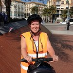 Me practicing on the segway before we headed off on the tour