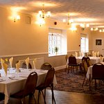 Our 60 seater function room layed up for a dinner club