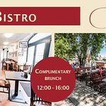 Complimentary Brunch available at our Bistro