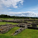 Corbridge Roman Town, building foundations