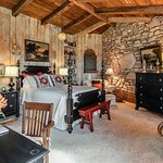 The Taos Room with it's magnificent Stone Wall
