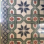 Sample of the tile prevalent in the historic homes.