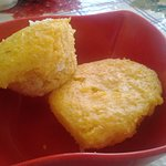 The corn cupcakes in a local eatery