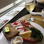 Fresh Lobster served with fresh local bread, dip, and we accompanied it with a Chenin Blanc
