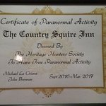 Certified to be haunted!