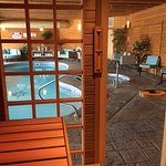 Enjoy our complimentary amenities such as our Saunalogic Steam Sauna, Salt Water Pool and Hot Tu