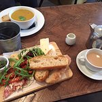 Butternut Squash Soup of the day - Antipasti - cured meats, cheeses, pesto, warm focaccia bread