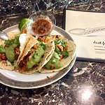 Delicious tacos, be sure to ask for the homemade tortilla!