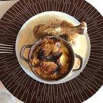 Le plat du jour, cuisse de poulet avec son gratin dauphinois