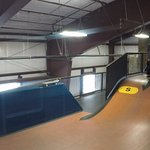 Mini mega Ramp to get you acclimated to your board and jumping into foam pit