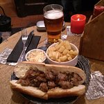 Rump Steak Baguette with fluffy fries excellent if you want a smaller meal