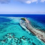 Aerial photo near Turneffe Flats on Turneffe Atoll