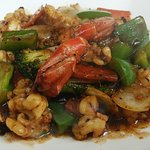 King Prawns in Black Bean Sause @ Chef Zhu