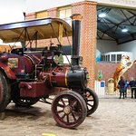 Traction engine with lego tiger