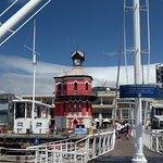 Clocktower and swinging bridged
