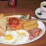 A delicious English halal breakfast.
