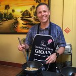 Having fun while learning at Gioan Cooking School in Hoi An.