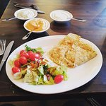This was one of my first crepes in La Crepe Cafe. This one is with chicken. Loved it!!!