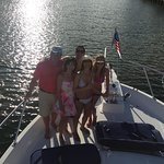 My family and I during the sunset cruise on Derek's boat