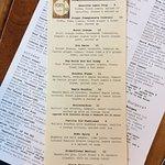 4580 Cocktail menu