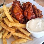Famous Wings and fries