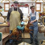All of the carousel animals are carved by hand at the woodshop