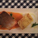 Sea trout fillet with potato Mille foglie