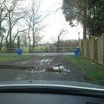 Drive way at entrance