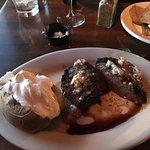 11 oz top sirloin with baked potato