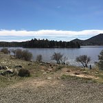 """Lake nearly full after the Feb. 2017 storm, which lake received 6.39"""" of rainfall. Water muddy,"""