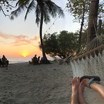 Sunset view from the beach hammock