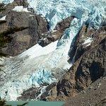 Glaciar y laguna piedras blancas