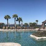 Yacht club pool area