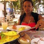 Enjoying The House Specialty: Camarones a La Papi