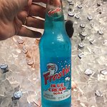 Blue cream soda? Ok...