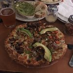 Steak fajita pizza